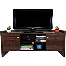 DeckUp Alvo Matte Finish TV Stand and Home Entertainment Unit (Wenge Brown)