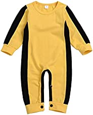 Baby Yellow Martial Arts Jumpsuit - Costume Outfit Romper Tracksuit Suit - for Children,90cm