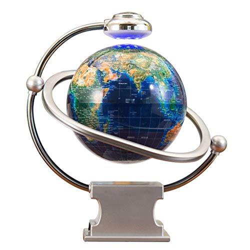 XHHWZB Globo Flotante magnético del Mapa del Mundo Flotante de la levitación, 8'Bola giratoria del Globo terráqueo del Planeta con Soporte de exhibición del Escritorio del LED - Regalo de la Oficina