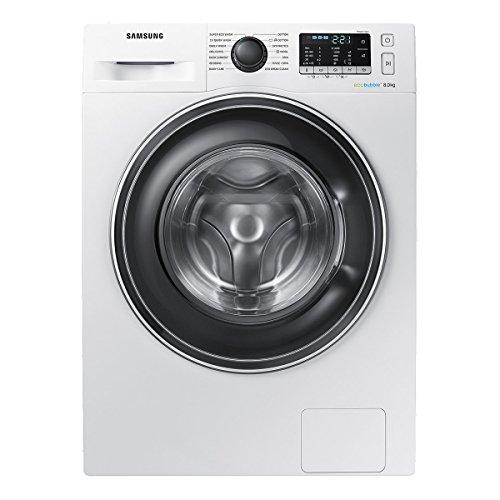 Samsung WW80J5555EW ECOBUBBLE 1400rpm Washing Machine 8kg Load SMART Class A+++