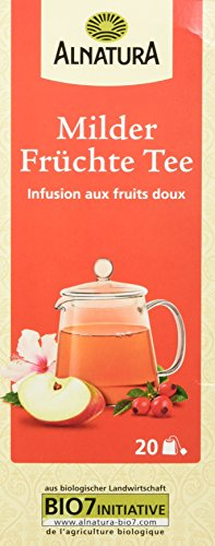 Alnatura Bio Milder Früchte Tee, 20 Beutel, 50 g