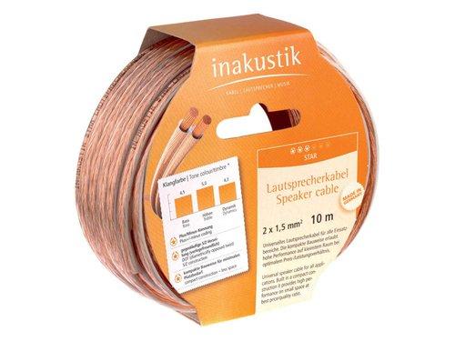 In-akustik Star Lautsprecherkabel 2x 1,5 mm² Ring 10 m Elektronik In Bulk