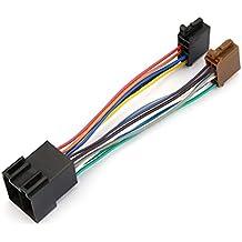 Heaviesk Arnés de Audio estéreo para Auto con Adaptador ISO Durable Arnés de cableado para Radio