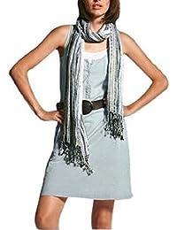 Chillytime Kleid mit weißem Unterkleid Mintgrün Weiß