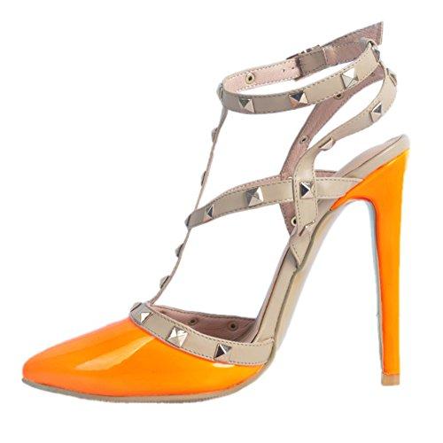 De Salto Picos De Kolnoo De Laranja Senhoras Artesanais Da Alto Festa Sapatos Slingback Sandálias Moda Verão 7wBIqx5X