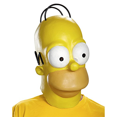 The Simpsons Homer Costume Mask Adult One (Simpsons Masken)