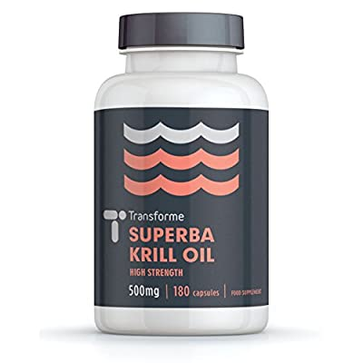 Superba Krill Oil Extract 500mg 180 Capsules - 1000mg Per Serving - High Grade Pure Antarctic Sourced Red Krill Providing a Rich Source of Omega by Save on Supplements