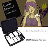 LTGEM EVA Hard Case for Cards Against Humanity - Fits the Main Game, All 6 Expansions Plus. Holds up to 1600 Cards with 6 Moveable Dividers (2 Row) - Black Portable Card Game Storage Bag