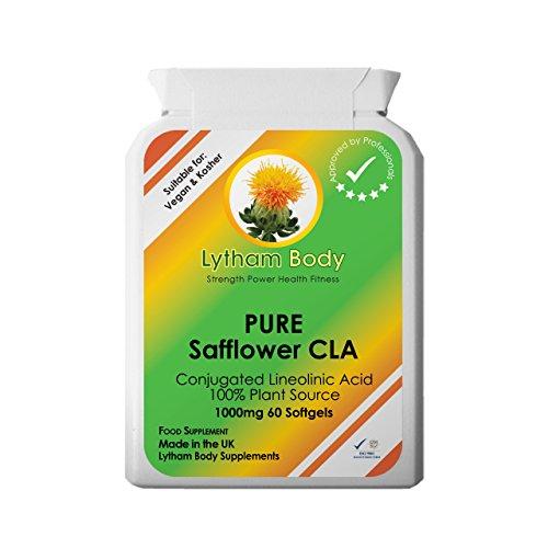 CLA Konjugierte Linolsäure 100% 1000mg x 60 Kapseln Reine Pflanzliche Quelle vegetarisch / vegan...
