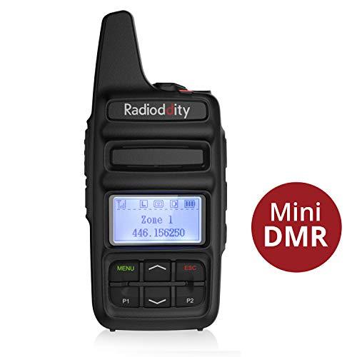 Radioddity GD-73E DMR Walkie Talkie mit LC-Display Digitales Funkgerät dPMR446 Reichweite 5KM wetterfest IP54 DMR Walkie Talkie mit Programmierkabel und 2600mAh Batterie