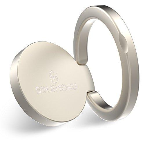 Handy Ringhalter, SINJIMORU Handyring für Handy Fingerhalterung / Handyständer, kombinierbar mit Magneten für iPhone und Android Handys. RINGO mini, Weiß. …
