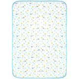 FG TRENDZ - Quick Dry Baby Changing Mat Baby Bed Protector Water Proof And Reusable Mat Baby Sleeping Mat Dry Sheet Mattress Protector-Age:0-10 Months-Size:70cm*50cm–Colour:Blue