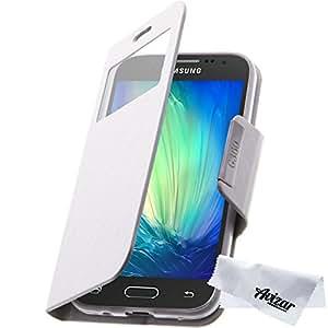 Avizar - Housse Etui à Clapet Samsung Galaxy Core Prime - Blanc