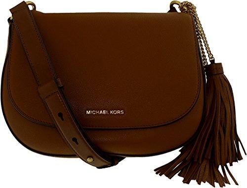 e6eaff2ab9b0 Michael Kors Elyse Large Leather Saddle Bag – Acorn- 30T6TE2M3L-532 ...