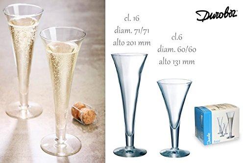 DuroborDrinkstuff Lot de 6 flûtes à champagne réalisées à la main 16 cl