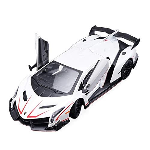 SXET-Coche modelo Modelo de Coche 1:24 Lamborghini Sports Car Veneno Modelo Simulación de Aleación de Colección de Coches Modelo de Juguetes para Niños White Limited