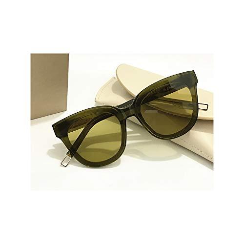 Unisex Sonnenbrille Für sanfte Monster-SonnenbrilleNew Gentle man or Women Monster eyeware V brand IN SCARLET sunglasses for Gentle monster sunglasses -khaki frame olive lens