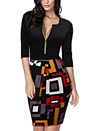 Miusol Femme Business Manches 3/4 Robe