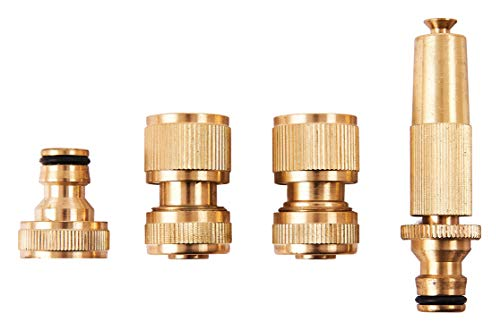 Amtech U2520 Brass Hose Fittings, 4-Piece