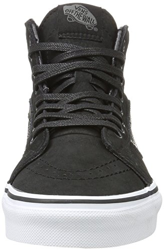 Vans Unisex-Erwachsene Sk8-Hi Reissue Hohe Sneakers Schwarz ((Premium Leather) black/true white)