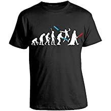 Tshirt evolution star wars - film - darth vader - in cotone by Bubbleshirt