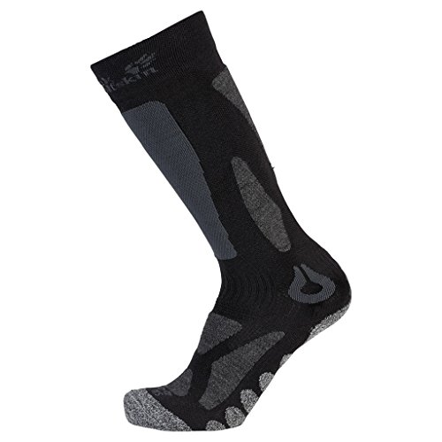 Jack Wolfskin Socken Ski Merino Sock High Cut, Black, 41-43, 1904451-6000413 (High-cut Herren)