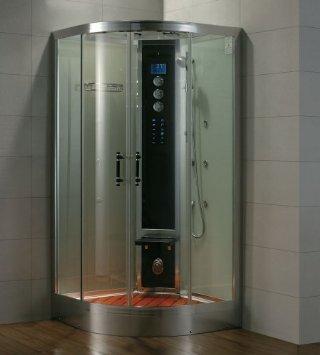 Dampfdusche/Wellnessdusche AQUALINE WS105S6 1200 x 1200 x 2240mm Rückwandfarbe: schwarz