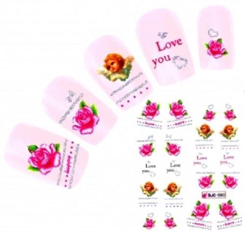 ser Decals Dekoration Valentines Vintage Rosen Engel ()
