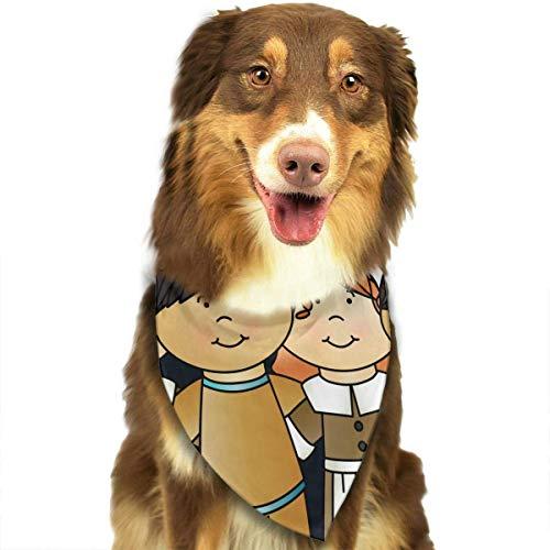 Sdltkhy 1st Thanksgiving Clipart Fashion Dog Bandana Haustierzubehör Easy Wash Scarf -