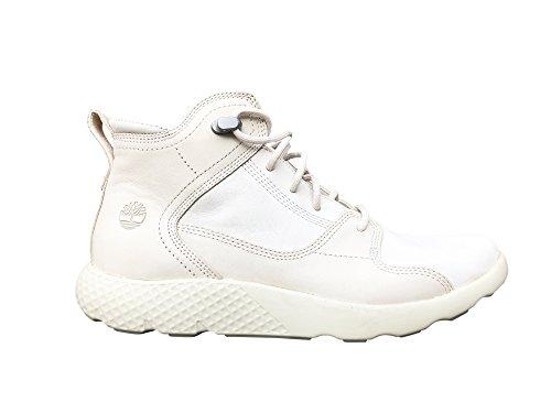 TimberlandTBOA102Q - Flyroam Hiker Donna, Bianco (Infradito Colorati Estivi, con finte Perline), 42 EU