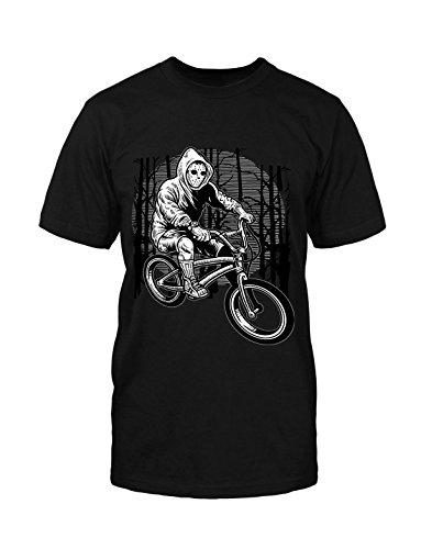 (mycultshirt Ride to Kill T-Shirt Fun Jason Horror Biker Sport Movie Halloween Maske)