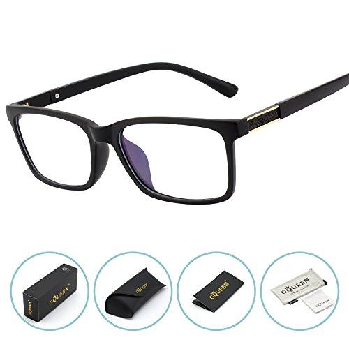 GQUEEN Blaues Licht, das Computer-Gläser, Anti-Glare-Augen-Ermüdung mit TR90 blockiert, Rahmen-transparente Linse, GQ07