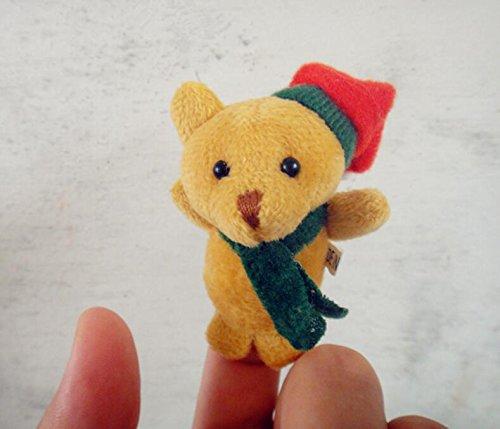 Ideale come festa dei bambini 1 pc christmas finger puppets teddy bear hildren bambini educational storytelling doll hand toys