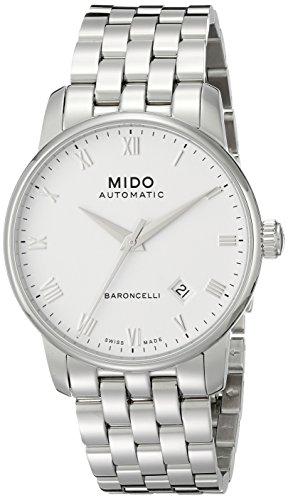 MIDO Baroncelli Ii 38mm M86004261 - Reloj de caballero automático, correa de acero inoxidable color p