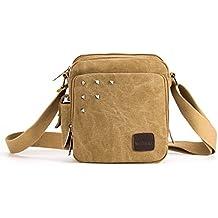 MeCool Schultertasche Canvas Umhängetasche Designer Marken Reisetasche Taschen für Männer Schule Retro Weekender Freitag Handtaschen Günstig Messenger Strandtasche Sporttasche Reisetaschen