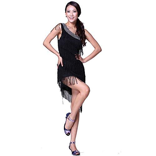 FaithYoo Damen Schößchen Kleid Einheitsgröße Dunkelblau