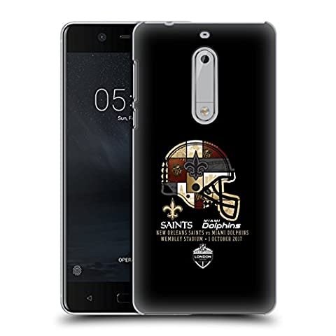 Officiel NFL New Orleans Saints Casque 2017 London Games Teams 2 Étui Coque D'Arrière Rigide Pour Nokia 5