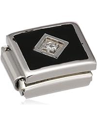 Nomination 230306-02 - Abalorio de acero inoxidable con cristal swarovski