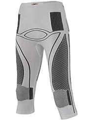 X-Bionic Energy Accumulator Collant 3/4 Femme, Blanc/Gris