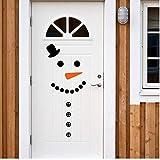 Bonhomme de neige Decal Porte d'entrée Réfrigérateur Décoration De Noël Vinyle Autocollant Mural, Noël Sticker Mignon Bonhomme De Neige Mignon Pour La Décoration De Vacances,T326
