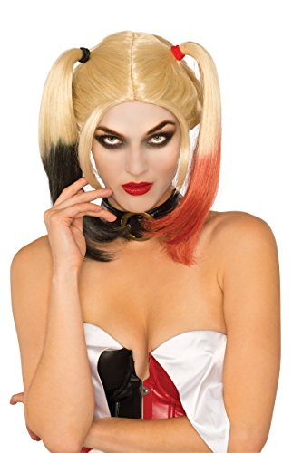 Quinn Womens Kostüm Harley - Women's Deluxe Harley Quinn Wig Standard