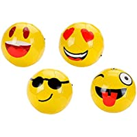 DISOK Lote de 10 Balones de Fútbol Emoticonos 22 CM (Grandes) - Divertidos 6bd2aa93fa408