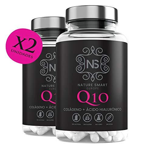 Collagene + Q10 + acido ialuronico + vitamina C |Pelle radiosa | Effetto anti-invecchiamento |100% naturale |2 capsule al giorno (180 UND)