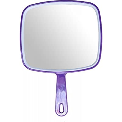 Hair dressing salon professional PURPLE hand held mirror