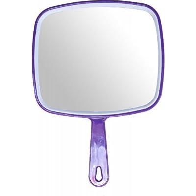 Hair dressing salon professional PURPLE hand held mirror - inexpensive UK light shop.