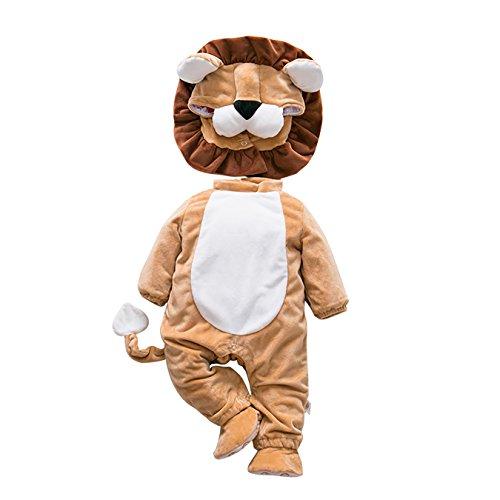 DAYU Kinder Baby Kostüme Tier Cosplay Jumpsuit Schlafanzug Unisex Winter Nachtwäsche Strampler Tiere Körpergröße (10 Tiere Optional)