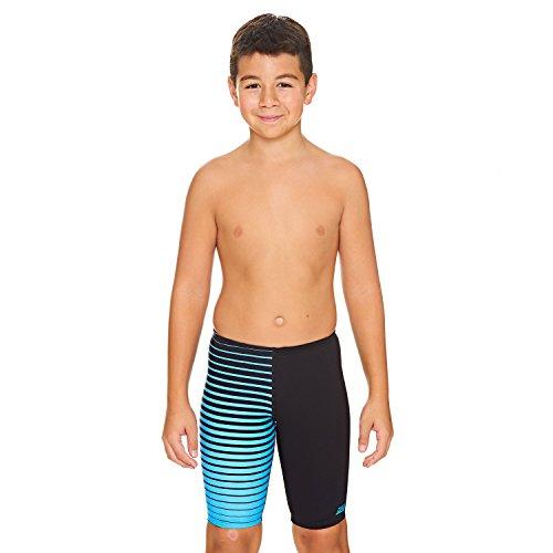Zoggs Jungen Cairns Jammer Swim Shorts, Mehrfarbig (schwarz / blau), 12-13 Jahre
