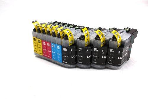 Preisvergleich Produktbild Multipack - 10 Druckerpatronen (LC-125 C/M/Y + LC-127 BK) kompatibel zu BROTHER mit CHIP für Brother MFC-J4110 DW MFC-J4410 DW MFC-J4510 DW MFC-J4610 DW MFC-J4710 DW