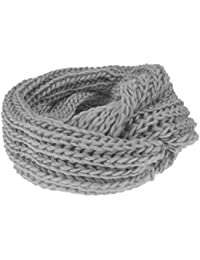 0d9fb0768d8 Womens Ladies Girls Snood Neck Warmer Ski Scarf Super Soft Knitted Chunky  Cable Knit Circle Loop