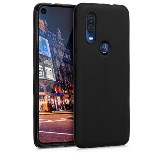 kwmobile Motorola One Vision Hülle - Handyhülle für Motorola One Vision - Handy Case in Schwarz matt